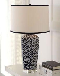"H61D9 ""Geometric"" Navy Lamp"