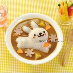 Japanese Curry Rice #Fun #Food dolphins flowers rabbits