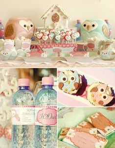 Owl Love Dessert Table @Hostess with the Mostess
