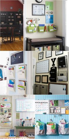 18 Drop Zone Command Center Ideas - great post with lots of creative ways to get the family organized!
