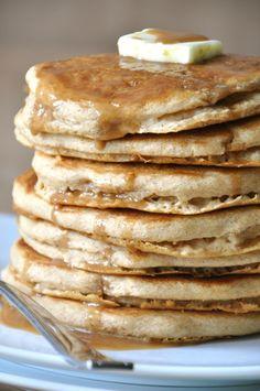 Vegan Maple Pancakes #vegan #food #pancakes #breakfast