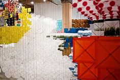 Gas Giant: An Enormous Suspended Kite Installation by Jacob Hashimoto kites installation