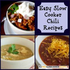 A phenomenal chili recipe is hard to find, but search no more with this handy list of 11 Easy Slow Cooker Chili Recipes, packed with such variety , you'll have all you need in your recipe arsenal!