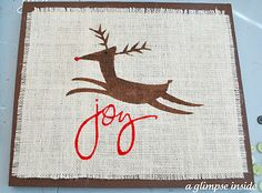 Burlap Christmas Wall Art