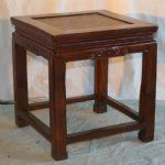 Antique Asian Chinese Furniture Small Beech Table / Stool