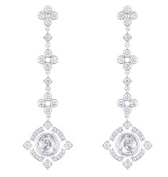 Louis Vuitton 'Dentelle d'hiver' white gold and diamond earrings.