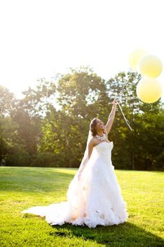 Southern wedding - balloon wedding ideas