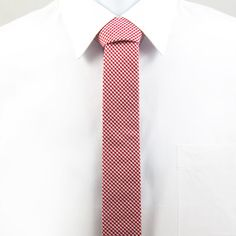 (99+) Fab.com | Skinny Tie Gingham Red