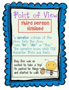 Point of View Freebie Pack (First Person, Third Person Limited. Teaching point of view. #point of view #point-of-view #character point of view #character-point-of-view #teaching point of view #teaching-point-of-view