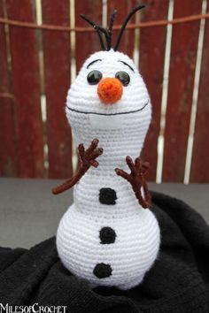 Olaf from Disney's Frozen Amigurumi Snowman by MilesofCrochet
