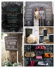 Chalkboard Wedding Inspiration Board