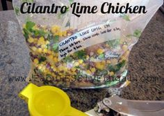 cilantro lime chicken in bag