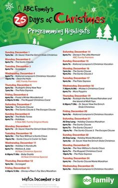 ABC Family's 25 Days of Christmas 2013 Schedule - TV Equals
