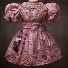 Silk Dress for doll 22-23in