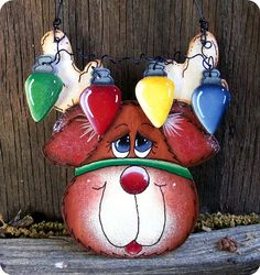Rudolph with Lights Ornament by CountryCharmers