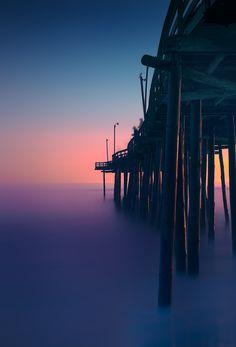 Avalon Fishing Pier at Sunrise // Kill Devil Hills, NC // #iloveobx