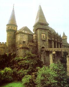 Hunyad Castle, Transylvania. Under massive restoration.