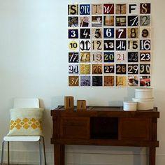 Love this calendar idea!