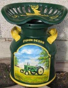John Deere Milk Can Seat