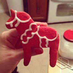 Dala horse cookie