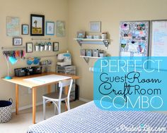 craft room/guest room. love this idea!
