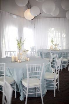 All white tent rehearsal dinner setting | photography by http://www.millieholloman.com/