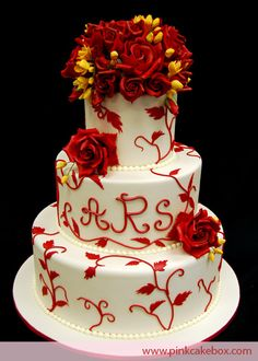 Rich Red Roses Weding