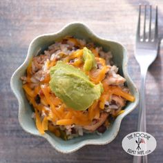 Crockpot Spicy Chicken & Rice from The Foodie Army Wife #WeekdaySupper