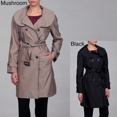 @Overstock - Keep yourself warm while staying fashionable with this womens ruffle collar coat. This double-breasted coat features a flattering ruffled collar, a belted waist, a fully lined interior for added warmth, and a button front with two pockets.http://www.overstock.com/Clothing-Shoes/Anne-Klein-Womens-Ruffle-Collar-Belted-Coat/6346057/product.html?CID=214117 $35.99 collar coat, women ruffl, doublebreast coat, coat featur, ruffl collar