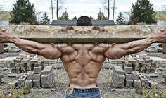 Tim Liggins has a massive muscled back