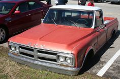 Vintage Red GMC Truck