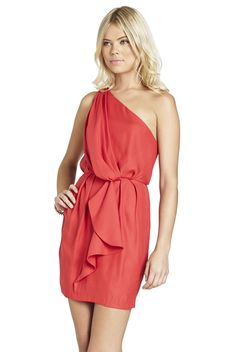 Flounce One-Shoulder Dress | BCBGeneration