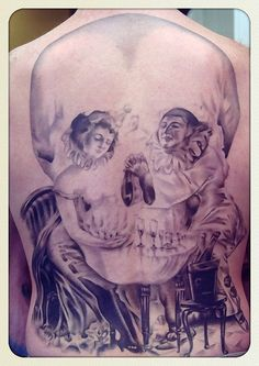 optical illusions, skull tattoos, art, back tattoos, tattoo ink