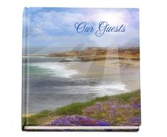"""Memorial Guest Book Ideas: Seascape Hardcover Glossy Sign in Registry Book 8""""x8"""""""