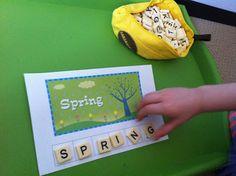 Rockabye Butterfly: Spring Letter Tile Printables