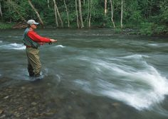 Fly fisherman on the South Fork of the Holston River.  The river is  one of the 10 Heritage rivers in the US.  NRCS worked with local farmers and other agencies in providing buffers, fencing for livestock, roational grazing, tree planting and recreational opportunities while at the same time improving water quality and wildlife habitat.