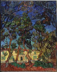Vincent van Gogh / Hospital at Saint-Remy / 1889 / oil on canvas
