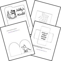 Free American Girl Lapbook Templates    A lapbook for each character