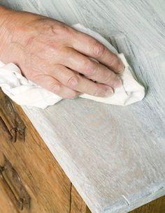 whitewashing with chalk paint