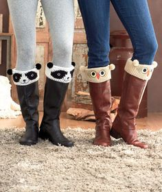 This pair of bootie cuties gives your favorite boots a playful look with adorable animal cuffs. booti cuti, boot cuffs, anim boot
