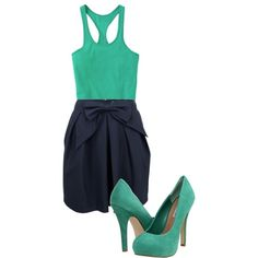 """""""Blue and Green"""" by karrina-renee-krueger on Polyvore"""