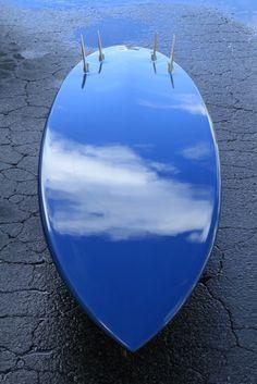 Mandala Blue surfboard
