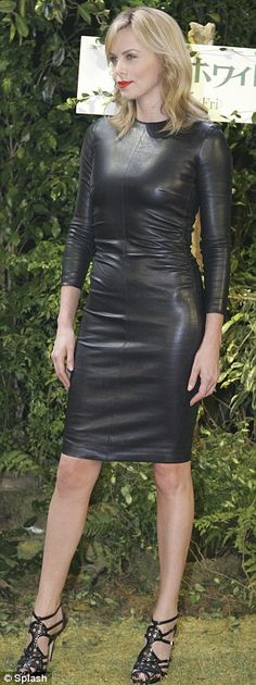 Charlize Theron: The 36-year-old Oscar winner wore this sexy, long-sleeved leather number to a premier of her new movie Snow White and the Huntsman. All I can say is Wow.