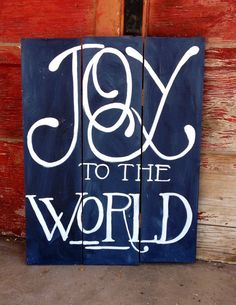 Hand Painted Wooden Christmas Sign.  by NazysNest on Etsy, $50.00