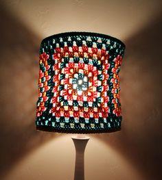 Crochet Granny Square lampshade
