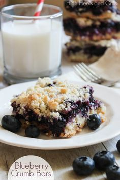 blueberry crumb bars. high heels and grills.