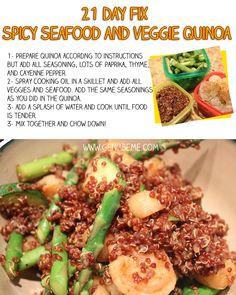 21 Day Fix Meal Idea Quinoa via www.geniabeme.com #21dayfix