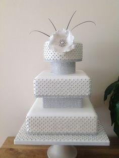 Silver Sensation Wedding cake - by Kimscakes @ CakesDecor.com - cake decorating website