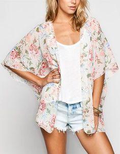 LOTTIE & HOLLY Floral Print Womens Kimono 233701575 | Clothing | Tillys.com