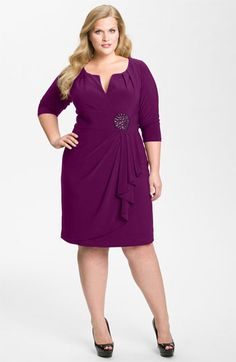 Adrianna Papell Embellished Matte Jersey Sheath Dress (Plus) available at #Nordstrom